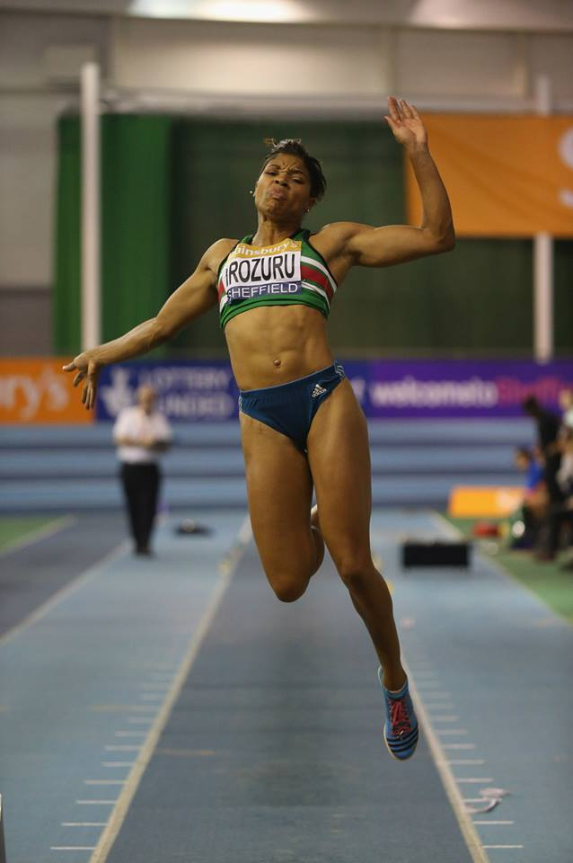 English Long Jumper Abigail Irozuru leapt her way to third on the UK indoor all-time list, with a PR of 6.73m