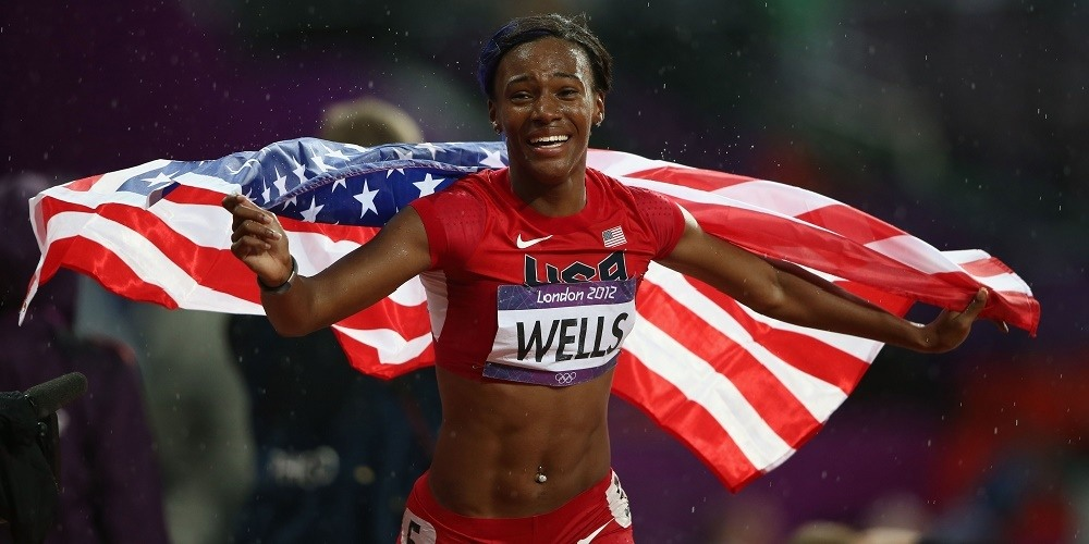 Kellie Wells joins the World Athletics Center