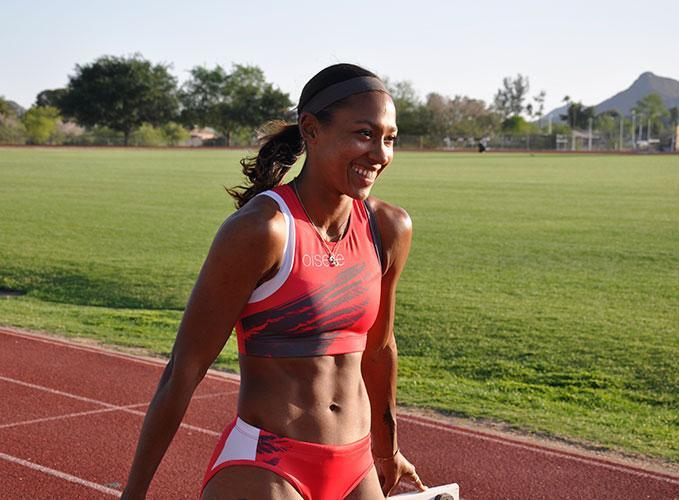 Shante Little once again dipped under 57 seconds at the Oxy Invite.