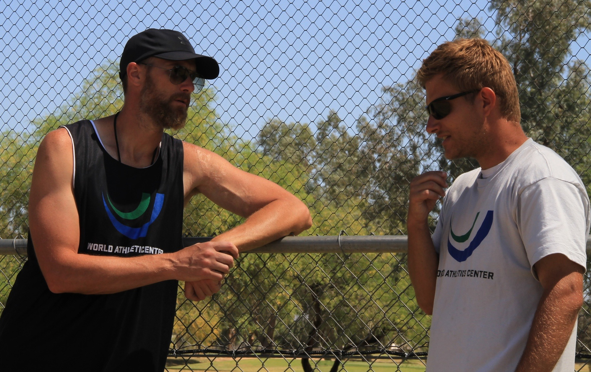 """Andreas and I normally 'head to the fence' once we both arrive to the track, and talk about the upcoming session."""