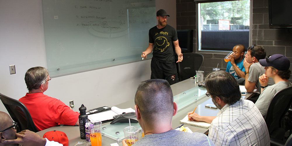 Apprentice Coaches gained insights from Performance Director Stuart McMillan on his strength training philosophies as part of the week long Program.